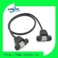 Factory Price USB Panel Mount USB A Female to A Female extension Cable with Screw