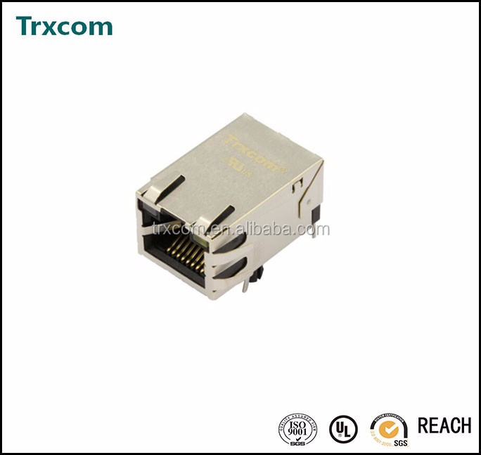 RJ45 10G Base-T Single Port <strong>w</strong>/ LEDs ARJ-128