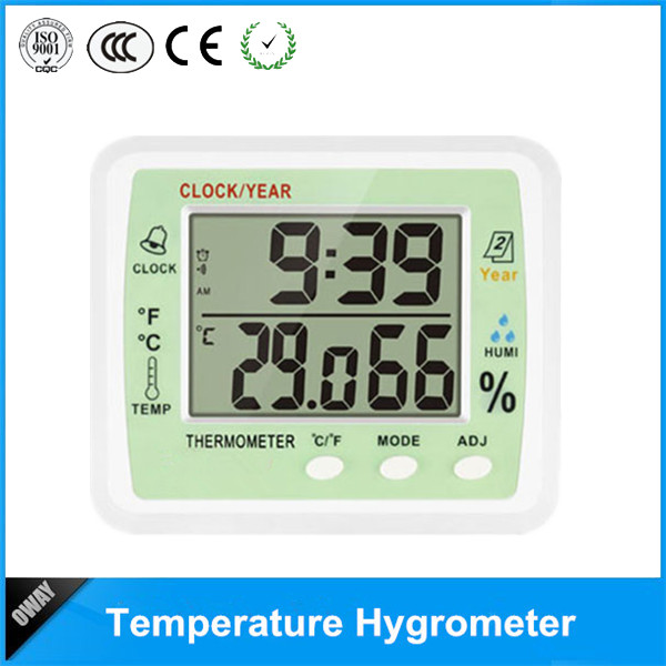 OEM digital clock thermometer with calendar time