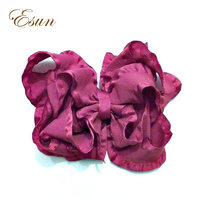 Wholesale New Style Ruffle 2.7 inch Hair Bows With Alligator Clip