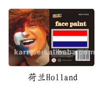 TARGET Audited Supplier,Holland national flag non-toxic face paint