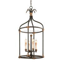 Vintage Wrought Iron Chandelier Fancy Light