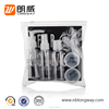 9pcs travel set cosmetic packing empty clear pet plastic travel bottles