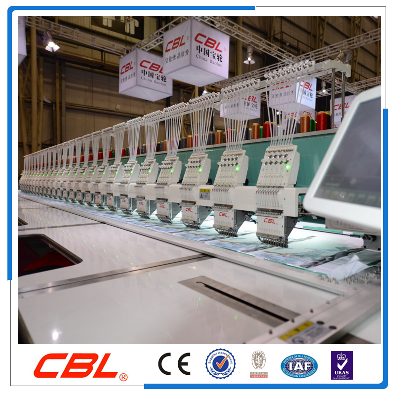 High speed 24 head flat embroidery machine