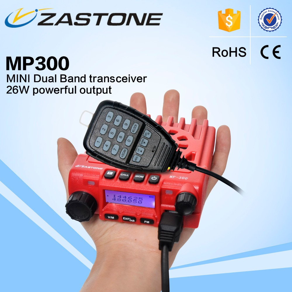 popular mini transceicver zastone MP300 UHF 240-260MHz or 400-480MHz+VHF 136-174MHz dual band moblie radio