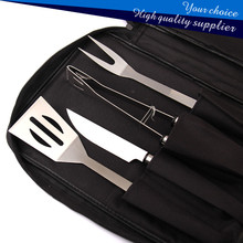 4pcs BBQ(bbq) grill tool set with stainless steel fork.tongs.spatula.knife(BBQ accessory)