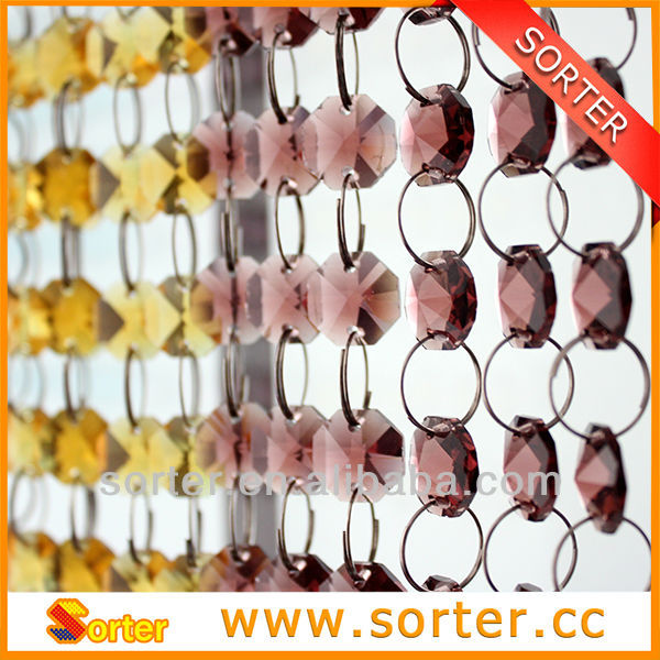 New products clear decorative crystal beaded curtain salon /hotel/bar/wedding/home decoration