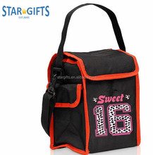 School Boy Kids Custom 1680D Nylon Cooler Lunch Bag With Insulated 5mm PE foam