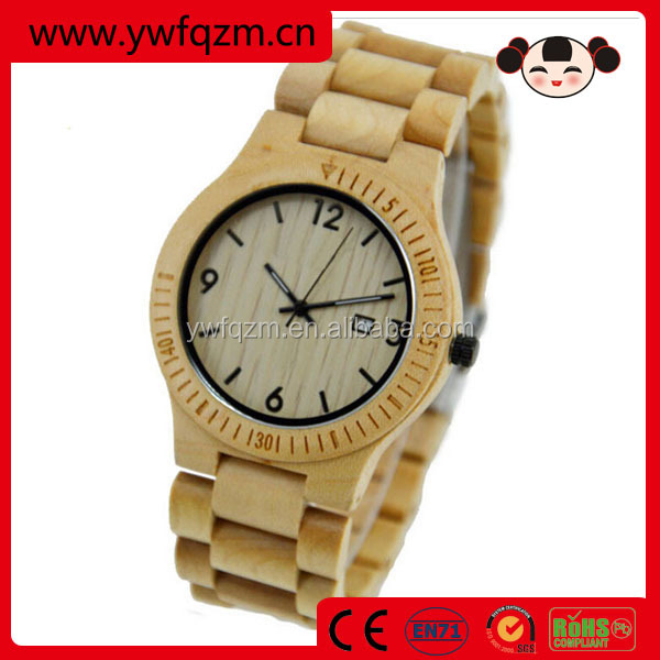 New fashion environment man wooden waterproof watch
