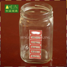 Wholesale wide mouth 400ml square glass jars and lids for honey