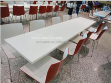 modern 12 seater dining table,solid surface restaurant Table with Chairs