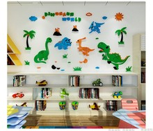 Sweet Deals on Dinosaur wall decals kids room 3D wall stickers acrylic