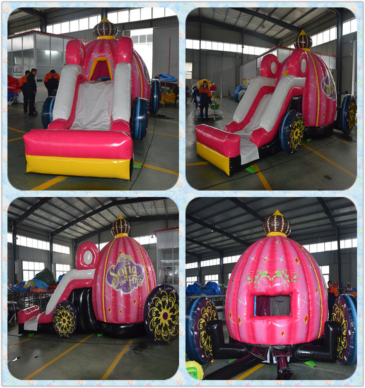 2016 Lovely pink princess bounce house