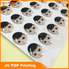 Retail price 3d resin dome cat sticker for sale