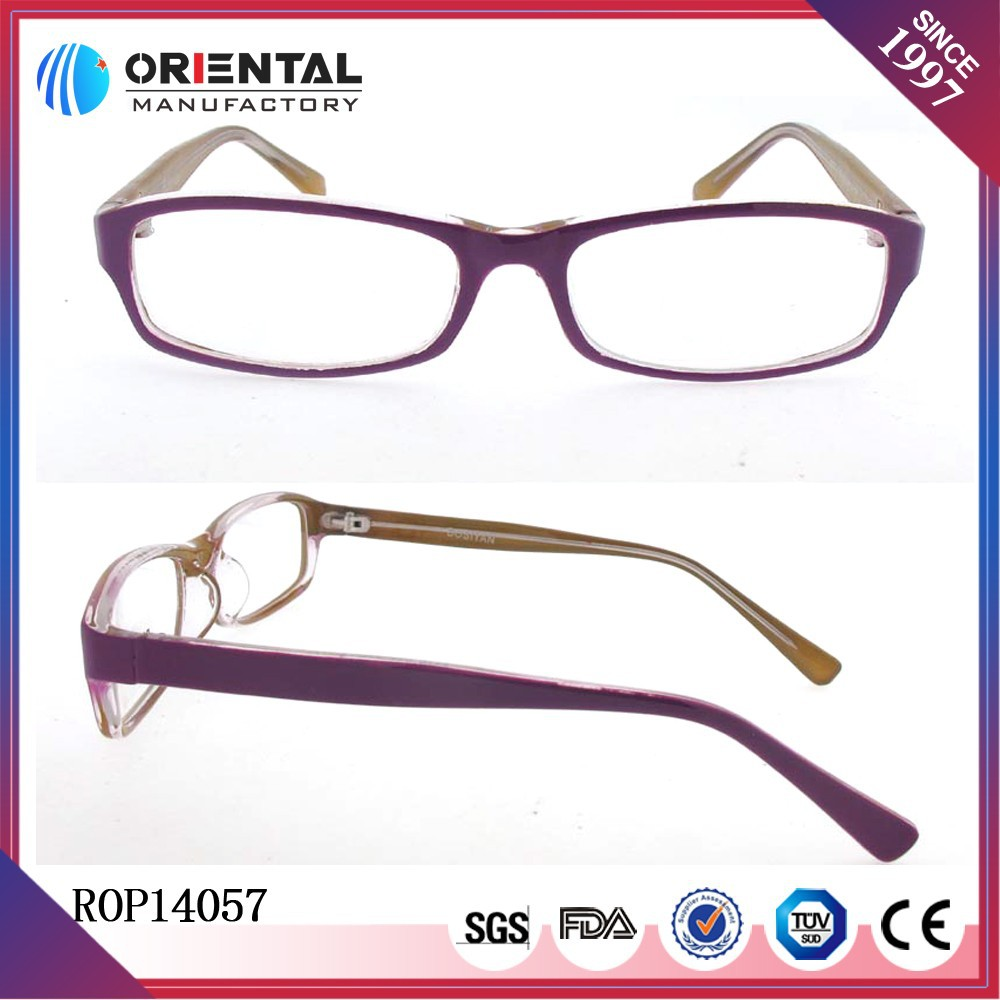 Titanium and memory design high quality rimless pure plastic optical frames wholesale