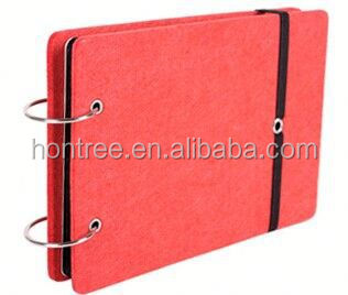 2014 felt eco-friendly glass cover photo album