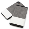 The Leather Power Bank & Smart Phone Case for Apple iPhone 8,7,7 Plus, 5000mAh Portable Gray PU Leather Power Bank