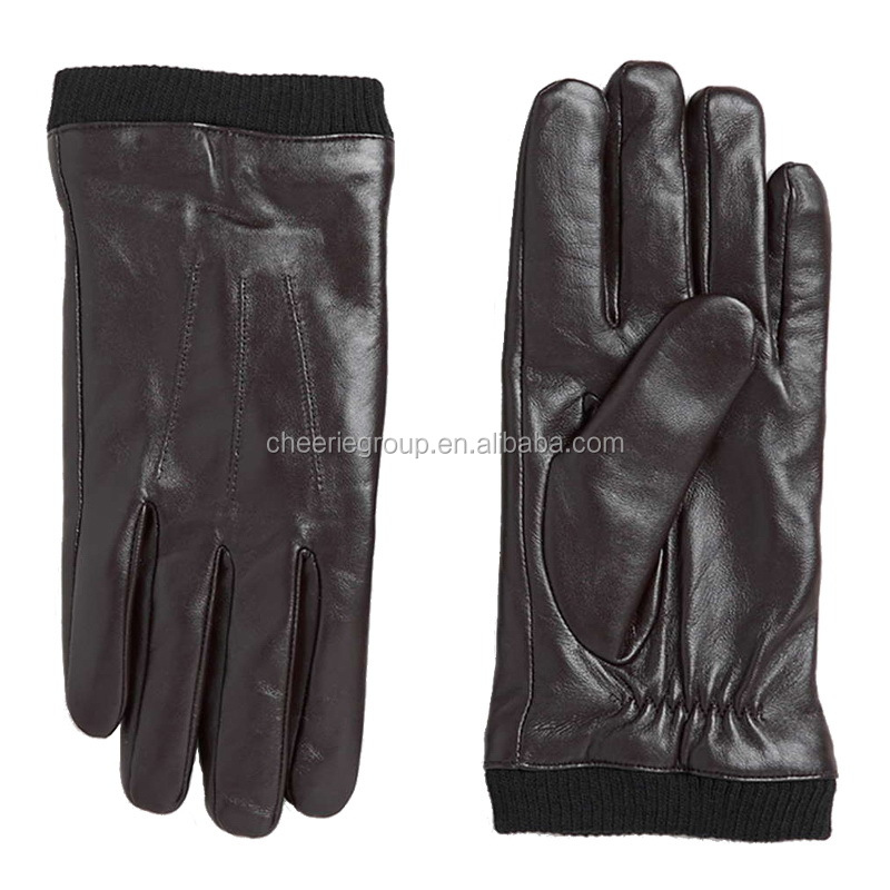 2017 Hot sale product 100% lamb skin keep warm motorcycle leather glove