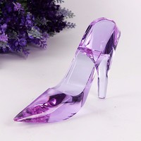 K9 Crystal High Heel Shoes Crafts Decorations Wedding Birthday Home Decoration & Gift