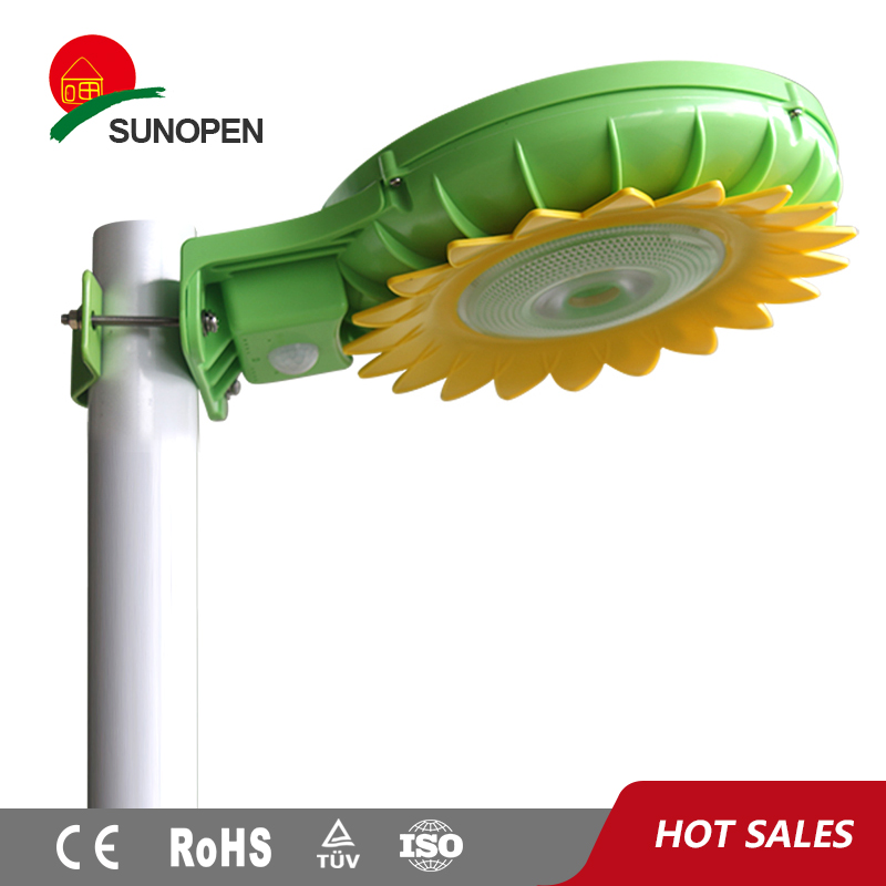 Sunflower 5W Garden Solar Powered no wire outdoor light