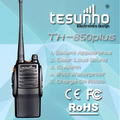 TESUNHO TH-850PLUS with 3500mah battery capacity and Noice suppression function 10w vhf/uhf radio wireless microphone