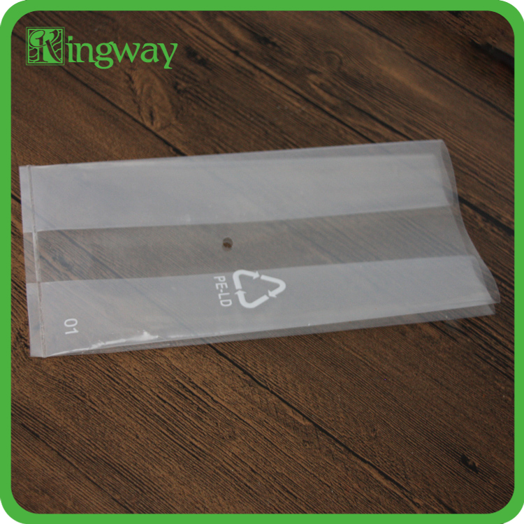 Colour Printed Plastic HDPE Flat Poly Bag With Side Gusset For Food and Gift Packaging