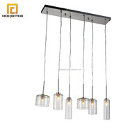 Decorative 6 lights hand blown clear glass pendant light new pendant lamp/pendant light chandelier