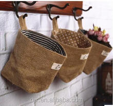 Wholesale Family Life Hanging ditty jute bags