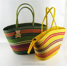 hot sell lady bags woven bags straw shoulder bags