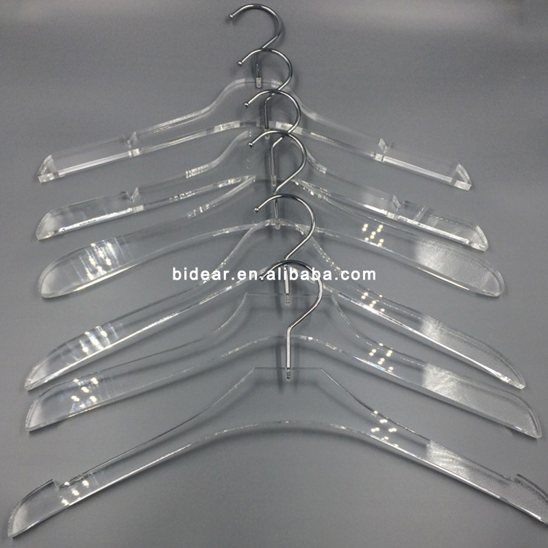 Factory Wholesale Clear Acrylic Coat Hanger