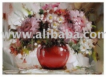 knife flower painting impression flower painting