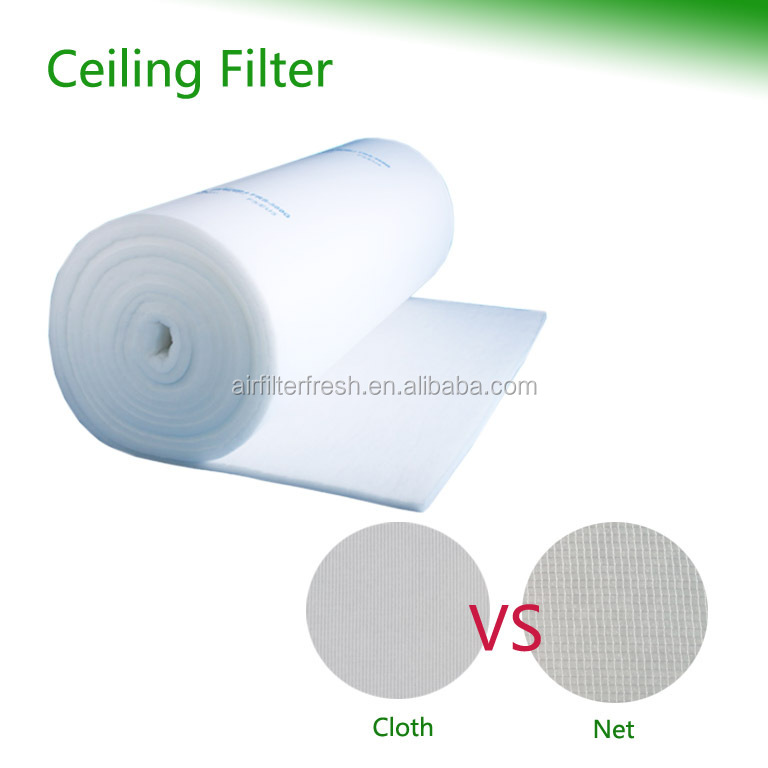 eu5 FRESH Spray booth industrial machinery polyester synthetic celling filter media roll filter felt