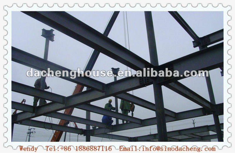 Low Cost Prefabricated Steel Frame to Easy Building(professional manufacturer)