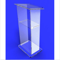 2017 Acrylic Clear Podium Pulpit Lectern, Acrylic Church Lectern Church Pulpits