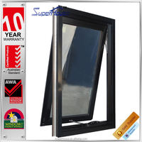 Superhouse new designed black mill finish aluminum window