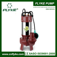 WQD Electric Centrifugal Cutting Submersible Sewage Pump with Cutter Impeller/Blade&Float Switch