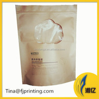 kraft paper bag with window for underwear t-shirt clothes apparel packaging