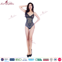 female extreme lace black sexy lingerie sex adult bodysuit for women