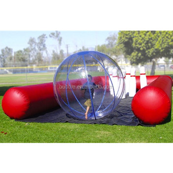 inflatable human bowling balls, Inflatable bowling race game lane with oversized bowling balls and human zorb
