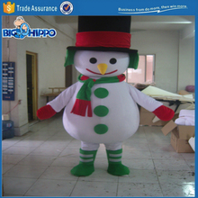 Funny christmas winter clothes snowman jack frost snow festival high quality custom mascot costume