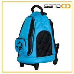2016 China supplier fashionable lovely pet carrier bag, pet carrier with wheels