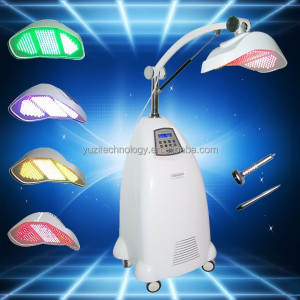 2016 new 7 Colors led photomodulation infrared heating lamp skin Facial care machine for acne scar removal skin whitening