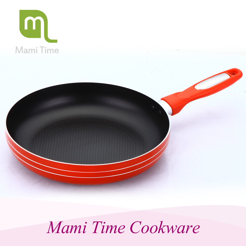 Aluminum die casting deep fry pan with visible cover