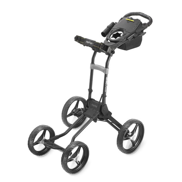 2014 Bagboy Quad Plus 4 Wheel Golf Push Cart - Matte Black