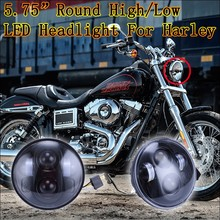 5.75 inch auto led headlight round led motorcycle lamp for harley davidson