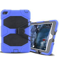 New arrival Silicone +PC 3 in 1 hybrid case with kickstand case for ipad mini 4