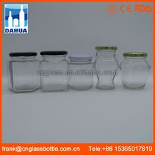 DH Ce Certified Empty Airtight Unique Weck Fido Sealable Antique Glass Jar For Kitchen Uk Cosmetics Canning Packaging