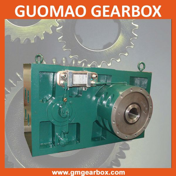 High precision reverse gear box for plastic extruder