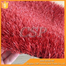 Landscaping artificial grass roll for green soft red artificial grass