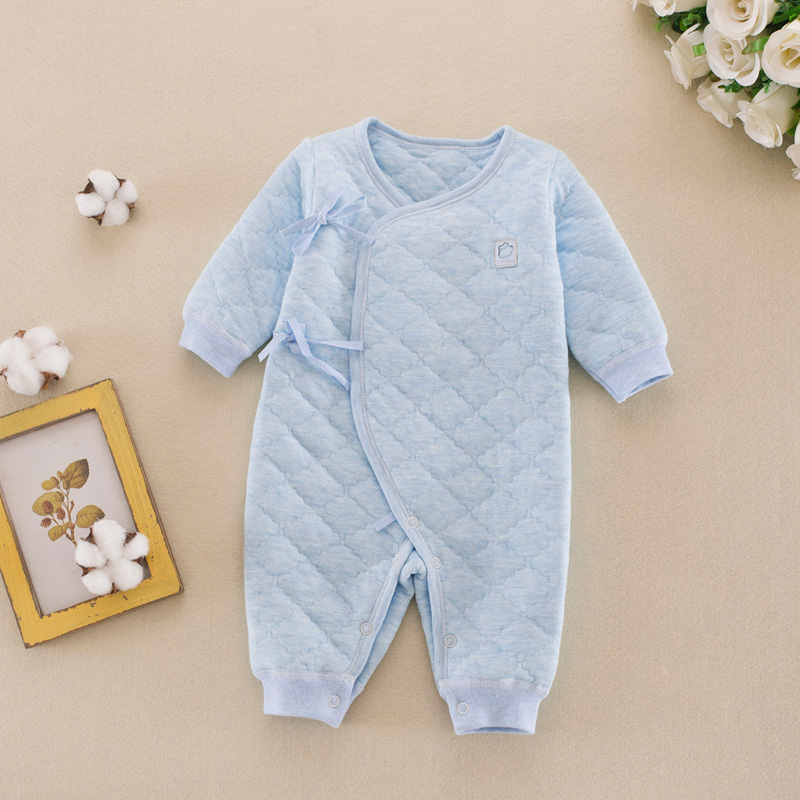 newborn spring and autumn cotton warm infants conjoined clothing